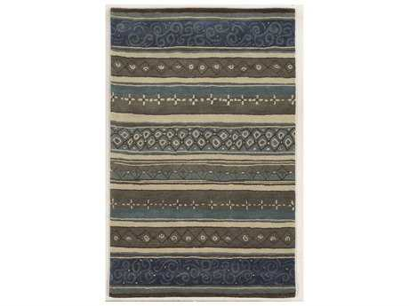 Rizzy Home Bradberry Downs Rectangular Gray & Blue Area Rug