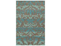 Rizzy Home Bradberry Downs Rectangular Teal & Turquoise Area Rug
