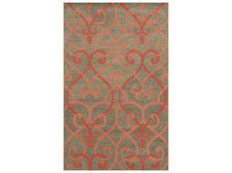 Rizzy Home Bradberry Downs Rectangular Coral Area Rug