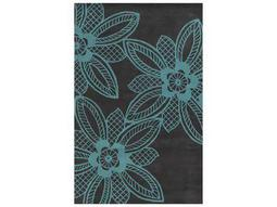 Rizzy Home Bradberry Downs Rectangular Turquoise Area Rug