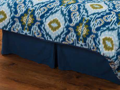 Rizzy Home Seaglass Blue Bed Skirt