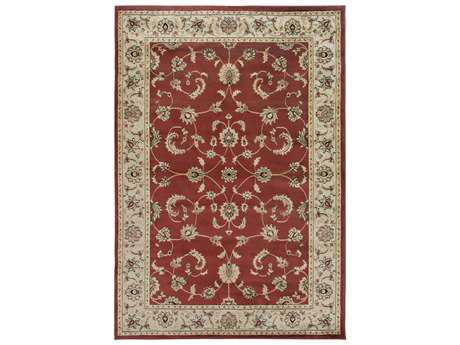 Rizzy Home Bayside Rectangular Red Area Rug