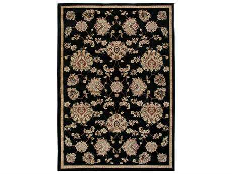 Rizzy Home Bayside Rectangular Black Area Rug