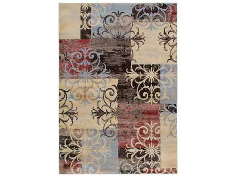 Rizzy Home Bayside Rectangular White Area Rug