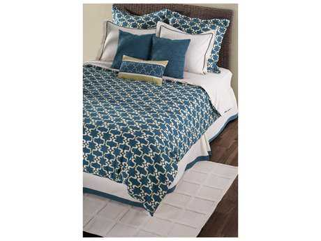 Rizzy Home Azuela Peacock Blue Duvet Bed Set
