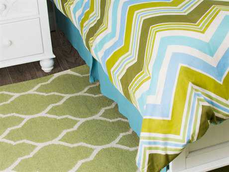 Rizzy Home Hippie Chic Teal Blue King Size Bed Skirt