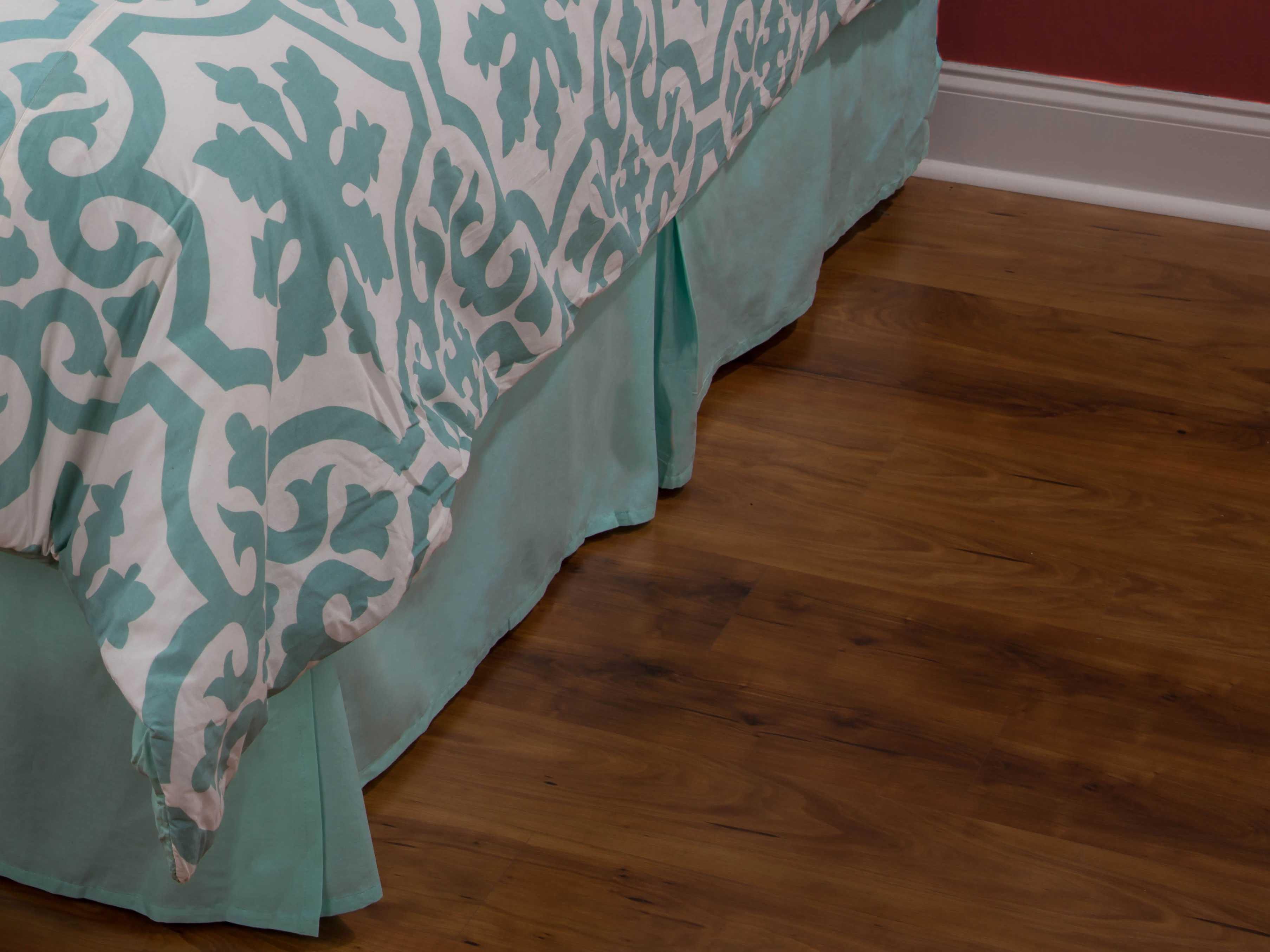 rizzy home matilda aqua bed skirt rhbt1327sk