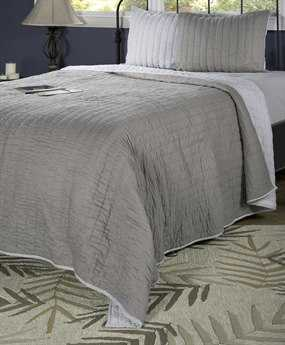 Rizzy Home Gracie Gray & Silver Quilt