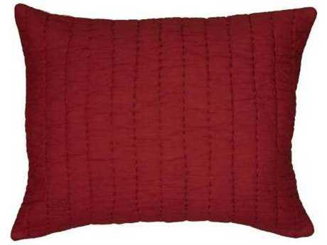 Rizzy Home Gracie Oxblood Red & Khaki Sham