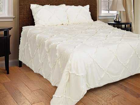 Rizzy Home Posh Ivory Quilt Set