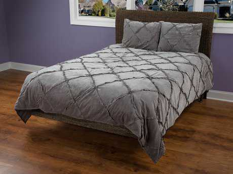 Rizzy Home Posh Charcoal Quilt Set