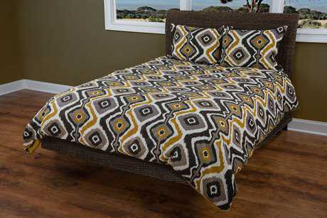 Rizzy Home Ikat Kinetics Yellow Comforter Bed Set