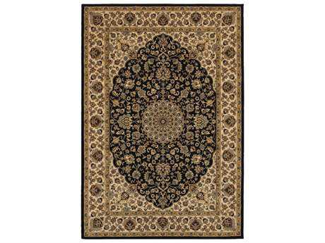 Rizzy Home Chateau Rectangular Black Area Rug