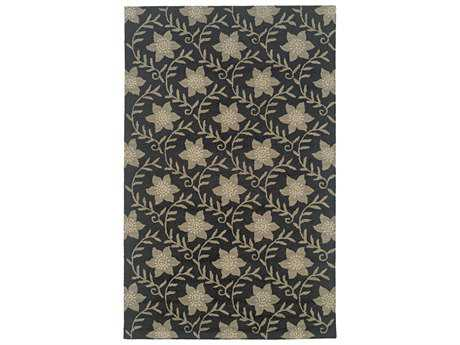 Rizzy Home Country Rectangular Black Area Rug