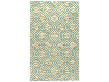 Rizzy Home Country Rectangular Green Area Rug