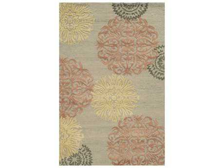 Rizzy Home Eden Harbor Rectangular Gray & Pink Area Rug