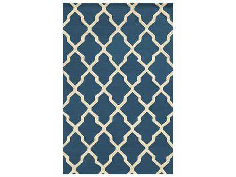 Rizzy Home Eden Harbor Rectangular Dark Blue Area Rug