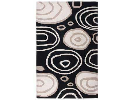Rizzy Home Fusion Rectangular Black Area Rug