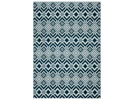 Rizzy Home Glendale Rectangular Navy Area Rug