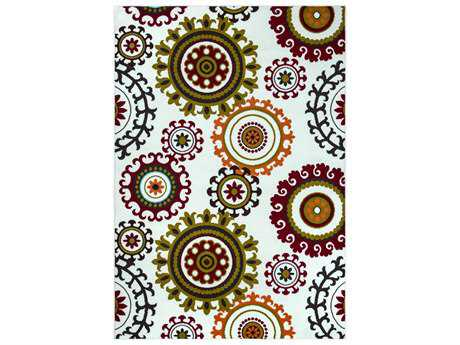 Rizzy Home Glendale Rectangular Burgundy Area Rug