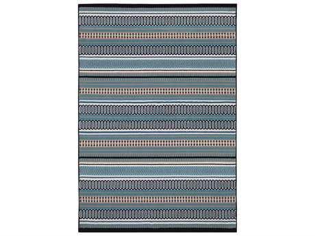 Rizzy Home Glendale Rectangular Aqua Area Rug