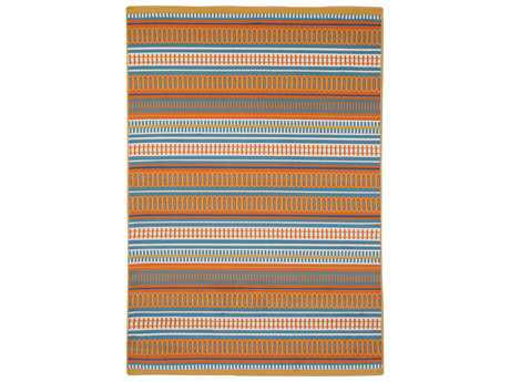 Rizzy Home Glendale Rectangular Orange Area Rug