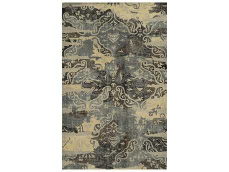 Rizzy Home Maison Rectangular Charcoal & Beige Area Rug