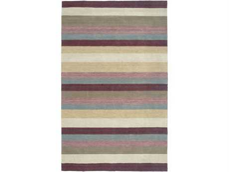Rizzy Home Platoon Rectangular Plum Area Rug