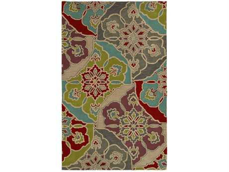 Rizzy Home Pandora Rectangular Red Area Rug