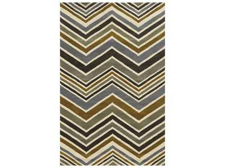 Rizzy Home Rockport Rectangular Gray & Gold Area Rug