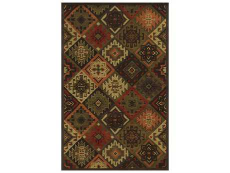 Rizzy Home Southwest Rectangular Brown Area Rug