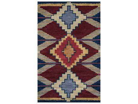 Rizzy Home Southwest Rectangular Blue Area Rug