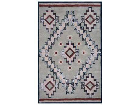 Rizzy Home Southwest Rectangular Gray Area Rug