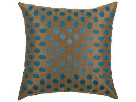 Rizzy Home Peacock Blue Pillow Cover