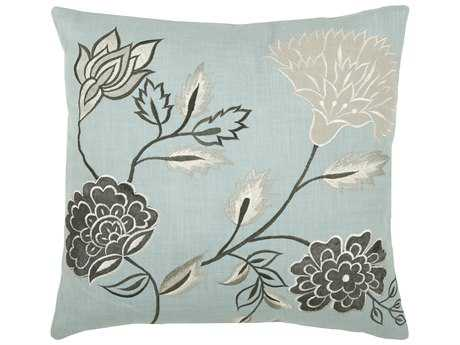 Rizzy Home Aqua Pillow Cover