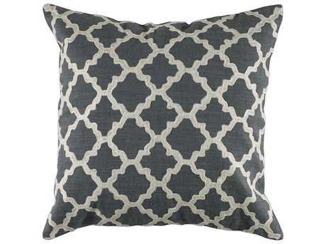 Rizzy Home Gray & Ivory Pillow Cover