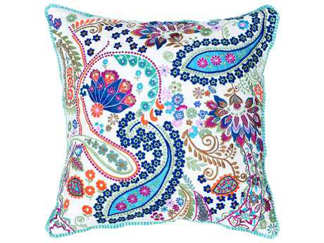 Rizzy Home One of a Kind White Pillow Cover