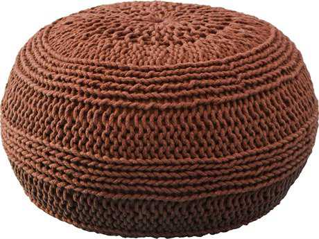 Rizzy Home Rust Pouf