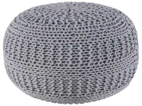 Rizzy Home Gray Pouf