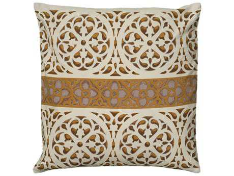 Rizzy Home Beige Pillow Cover