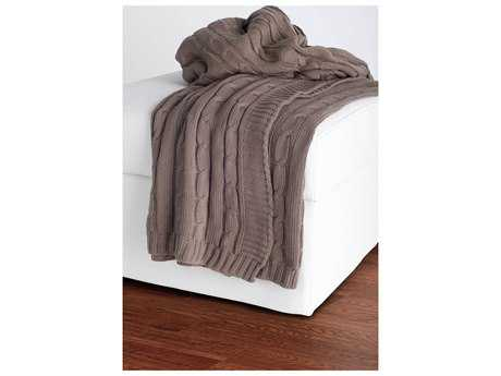 Rizzy Home Mocha Throw