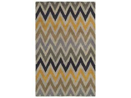 Rizzy Home Volare Rectangular Gold Area Rug