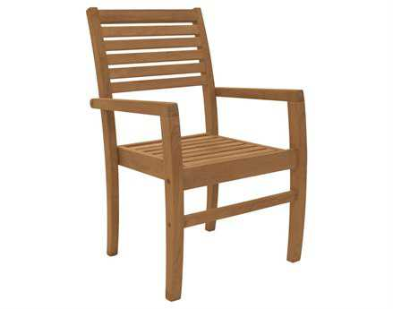 Royal Teak Collection Avant Stackable Dining Arm Chair