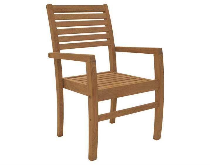 Royal Teak Collection Avant Stackable Dining Arm Chair PatioLiving