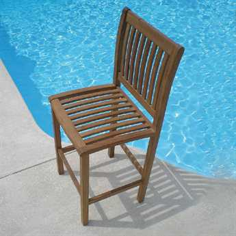 Royal Teak Collection Bar Side Chair PatioLiving