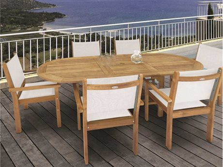 Royal Teak Collection Captiva Sling Dining Set