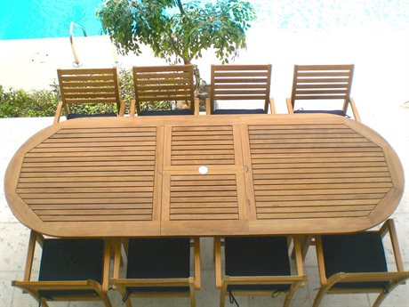Royal Teak Collection Classic Teak Casual Patio Dining Set RLCLSSCAVNTDINSET1