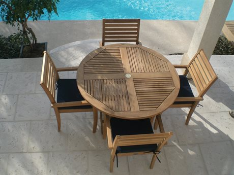 Royal Teak Collection Classic Dining Set RLCLSSCAVNTDINSET3