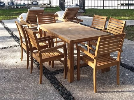 Royal Teak Collection Classic Dining Set RLCLSSCAVNTDINSET5
