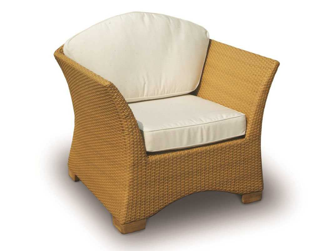 Royal Teak Copenhagen Wicker Cushion Honey Lounge Chair COPCH